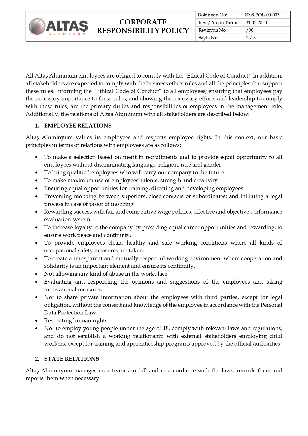 KYS-POL-00-003 CORPORATE RESPONSIBILITY POLICY_page-0001